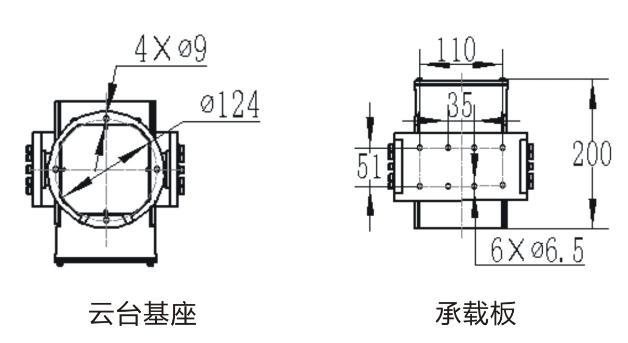 米乐国际m6平台基座尺寸图